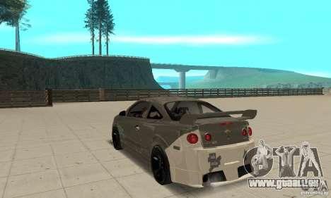 Chevrolet Cobalt SS NFS ProStreet pour GTA San Andreas sur la vue arrière gauche