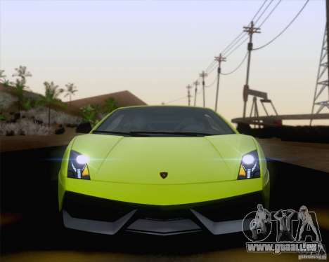 Lamborghini Gallardo LP570-4 Superleggera 2011 pour GTA San Andreas vue de côté