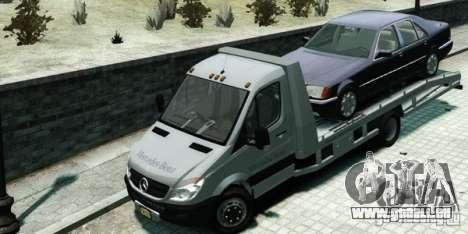 Mercedes-Benz Sprinter 3500 pour GTA 4 Vue arrière de la gauche