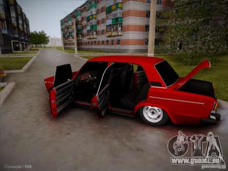 VAZ 2106 Piatigorsk pour GTA San Andreas vue intérieure