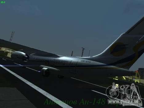 Antonow an-148 Aerosvit Ukrainian Airlines für GTA San Andreas Rückansicht