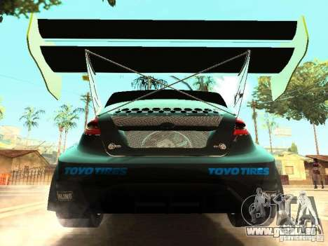 Ford Fiesta Rally Time pour GTA San Andreas vue intérieure