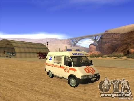 GAS-22172 Krankenwagen für GTA San Andreas rechten Ansicht