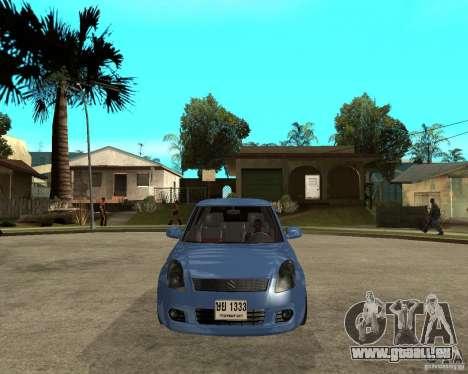 2007 Suzuki Swift für GTA San Andreas Rückansicht