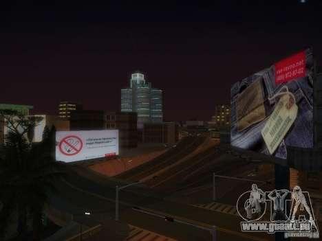 Nouvelles affiches autour de l'État pour GTA San Andreas sixième écran