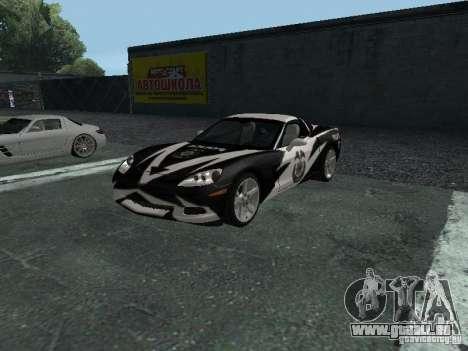 Chevrolet Corvette C6 pour GTA San Andreas vue de dessous