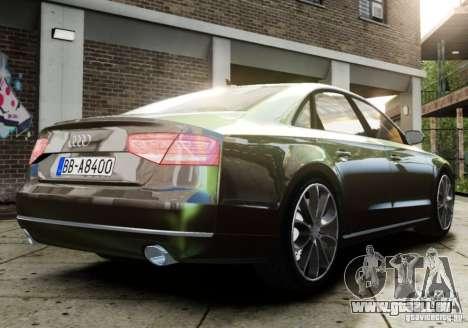 Audi A8 (D4, Typ 4H) 2010 Alpha pour GTA 4 est une gauche