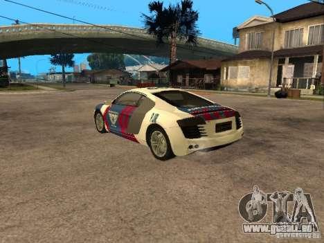 Audi R8 Police Indonesia pour GTA San Andreas laissé vue