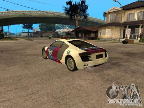 Audi R8 Police Indonesia für GTA San Andreas linke Ansicht