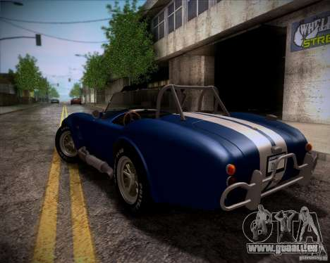 Shelby Cobra 427 Full Tunable für GTA San Andreas Innen