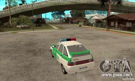 VAZ-2112 YPX Polizei für GTA San Andreas zurück linke Ansicht