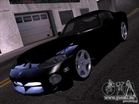 Dodge Viper pour GTA San Andreas vue de dessous
