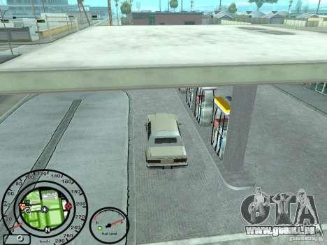 Compteur de vitesse avec jauge à essence pour GTA San Andreas quatrième écran