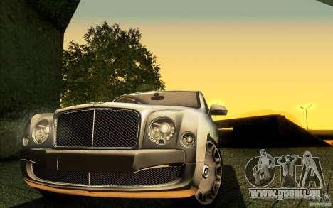 Bentley Mulsanne 2010 v1.0 für GTA San Andreas Motor