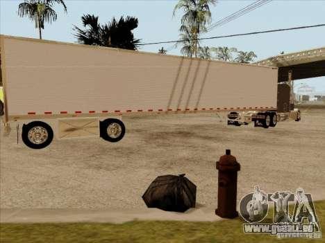 Anhänger, Peterbilt 379 Custom für GTA San Andreas zurück linke Ansicht