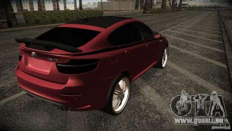 BMW X6 Lumma für GTA San Andreas Rückansicht