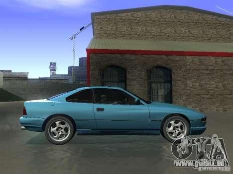 BMW 850CSi 1995 für GTA San Andreas zurück linke Ansicht