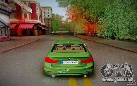 BMW 3 Series F30 Stanced 2012 für GTA San Andreas rechten Ansicht
