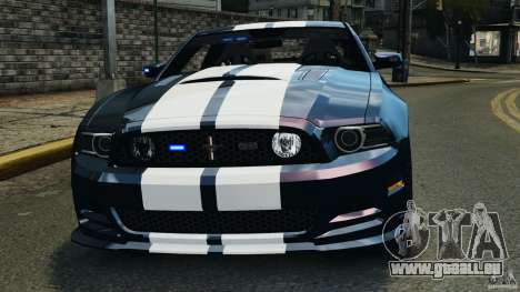 Ford Mustang 2013 Police Edition [ELS] pour GTA 4 Salon