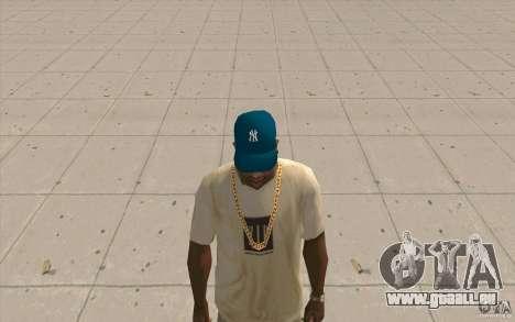 Mütze blau newyorkyankiys für GTA San Andreas zweiten Screenshot