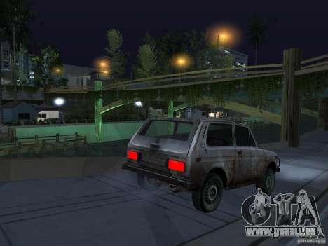 Rusty VAZ NIVA 1982 pour GTA San Andreas laissé vue