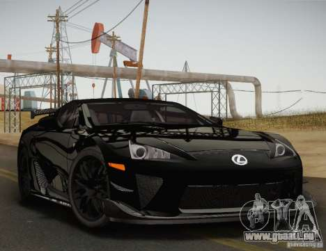 Lexus LFA Nürburgring Performance Package 2011 pour GTA San Andreas