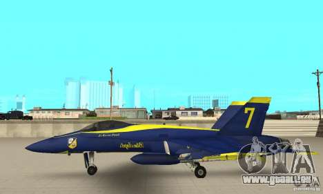 Blue Angels Mod (HQ) für GTA San Andreas linke Ansicht