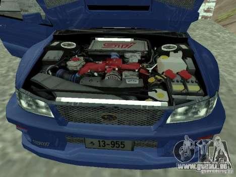 Subaru Impreza 22B STI pour GTA San Andreas vue de droite