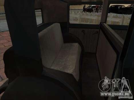 Le véhicule de la seconde guerre mondiale pour GTA San Andreas vue de côté
