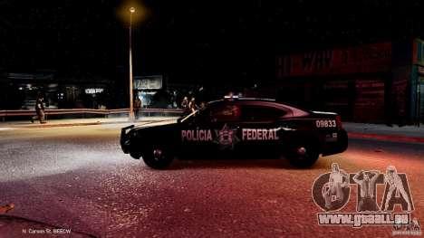 POLICIA FEDERAL MEXICO DODGE CHARGER ELS pour GTA 4 est une vue de dessous