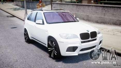 BMW X5M Chrome pour GTA 4 est une vue de l'intérieur