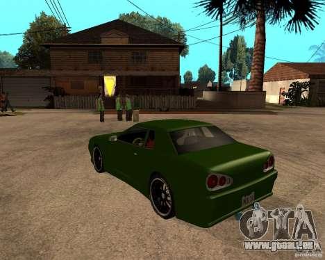 Elegy Green Line pour GTA San Andreas laissé vue