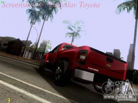 Chevrolet Cheyenne Single Cab für GTA San Andreas zurück linke Ansicht