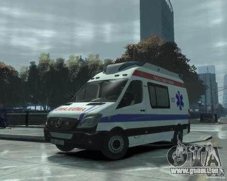 Mercedes-Benz Sprinter Azerbaijan Ambulance v0.1 pour GTA 4