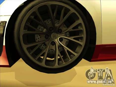 Bugatti Veyron pour GTA San Andreas vue de dessus