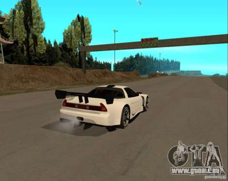 Acura NSX Sumiyaka pour GTA San Andreas sur la vue arrière gauche