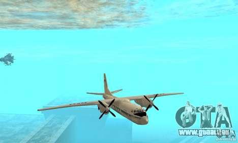 Antonow an-24 für GTA San Andreas Seitenansicht