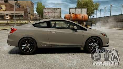 Honda Civic Si Coupe 2012 pour GTA 4 est une gauche