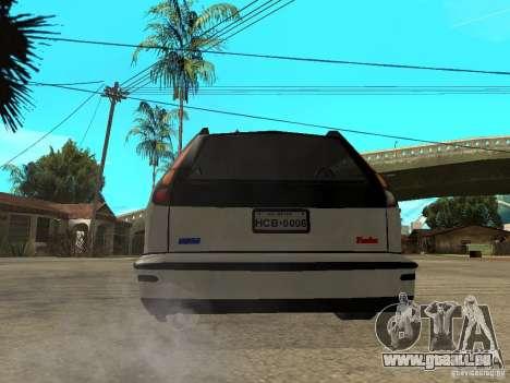 Fiat Marea Weekend für GTA San Andreas zurück linke Ansicht