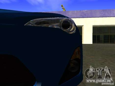 Toyota GT86 Limited pour GTA San Andreas vue de dessus