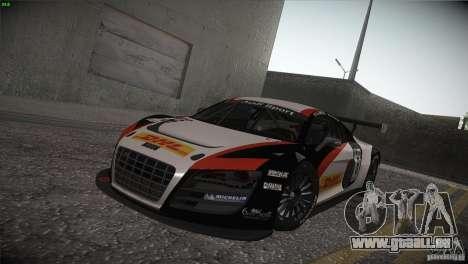 Audi R8 LMS für GTA San Andreas Innenansicht