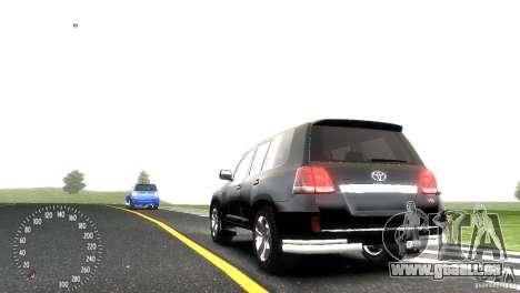 Toyota Land Cruiser 200 RESTALE pour GTA 4 est une vue de l'intérieur
