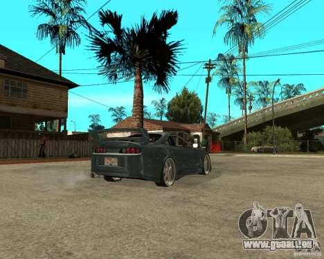 Toyota Supra Veilside pour GTA San Andreas sur la vue arrière gauche