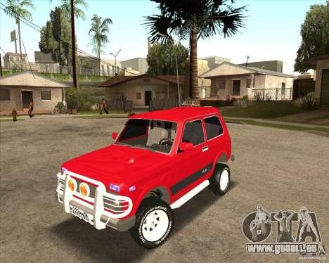 VAZ 21213 4 x 4 pour GTA San Andreas vue de dessus