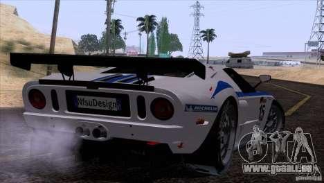 Ford GT Matech GT3 Series pour GTA San Andreas sur la vue arrière gauche