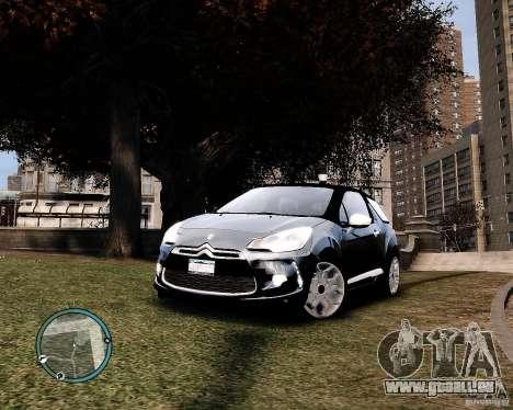 Citroen DS3 2011 pour GTA 4 Vue arrière de la gauche