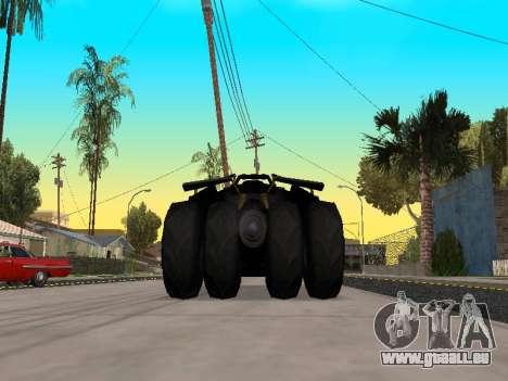 Tumbler Batmobile 2.0 pour GTA San Andreas vue de droite