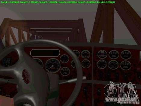 Peterbilt 387 für GTA San Andreas Innenansicht