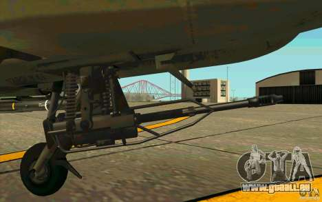 Apache AH64D Longbow pour GTA San Andreas vue intérieure