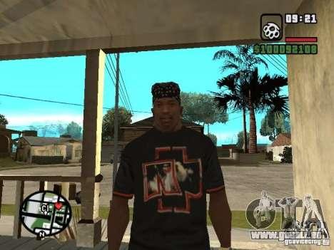 Rammstein T-shirt v2 für GTA San Andreas